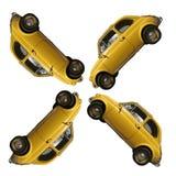 Fiat 500 żółty Fotografia Stock