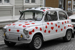 Fiat 500 car stock photography