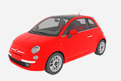 Fiat 500 car isolated Royalty Free Stock Image