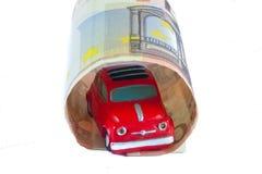 Fiat 500 et euro Photographie stock libre de droits