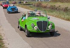 Fiat 500 Gamine Vignale Royaltyfri Fotografi