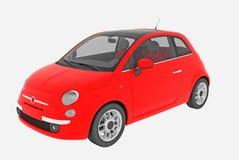 Fiat 500 geïsoleerder auto Royalty-vrije Stock Afbeelding