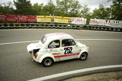 Fiat 500 Giannin 695 SS. A Fiat 500 Giannin 695 SS attends the 31th edition of Coppa del Chianti Classico  a competition race of hill-climb for Historical cars Stock Image
