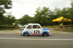 Fiat 500 Giannin 700. A Fiat 500 Giannin 700  attends the 31th edition of Coppa del Chianti Classico  a competition race of hill-climb for Historical cars valid Stock Image