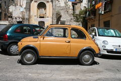 Fiat 500 in Italy Royalty Free Stock Images