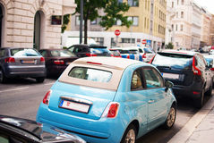 Fiat 500 on the Street Royalty Free Stock Photos