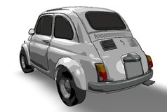 Fiat 500 (vecteur) illustration libre de droits