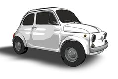 Fiat 500 (vector) Stock Photo