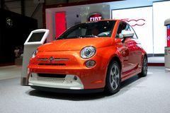Fiat 500e 2014 Stock Photos