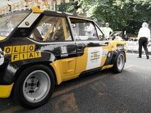 Fiat 131 Abarth à Bergame Grand prix historique 2017 Photos libres de droits
