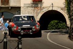 Fiat 124 Abarth al Gran Premio storico 2017 di Bergamo Fotografia Stock Libera da Diritti