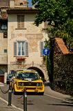 Fiat 131 Abarth bij de Historische Grand Prix 2017 van Bergamo Royalty-vrije Stock Afbeeldingen