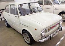 Fiat 850 Abarth 1000 843CC op Vertoning. Royalty-vrije Stock Fotografie