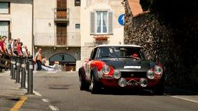 Fiat 124 Abarth em Bergamo Prix grande histórico 2017 Fotos de Stock Royalty Free