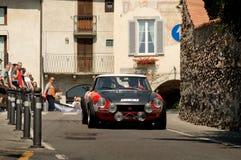 Fiat 124 Abarth em Bergamo Prix grande histórico 2017 Imagem de Stock Royalty Free