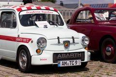 Fiat Abarth - gammal tidmätare Arkivfoto