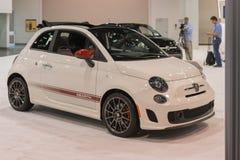 Fiat 500 Abarth op vertoning Stock Afbeelding