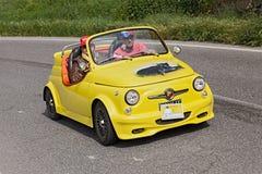 Fiat 500 Abarth-open tweepersoonsauto Royalty-vrije Stock Fotografie
