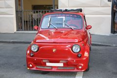 Fiat 500 abarth red Stock Photography