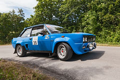 Fiat 131 Abarth samlar Arkivfoto