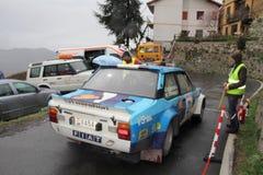 Fiat 131 Abarth samlar bilen Arkivbild