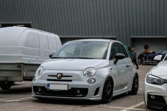Fiat Abarth Sportscar in Finland royalty-vrije stock afbeelding