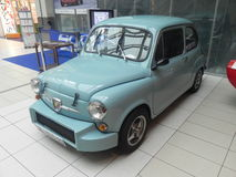 Fiat 600 Abarth. The Fiat 600 Abarth 850 TC, a nice vintage car produced in Italy in 1965 by Fiat with the engine and the car body developed by Abarth Stock Photos