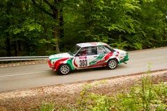 Fiat Abrath 131 on Miskolc Rally Hungary. 2016 Stock Photography