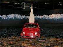Fiat 500 auto, bij het Nationale Museum van Auto's wordt tentoongesteld die stock foto's