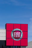 Fiat Automobile Dealership Sign Stock Photo