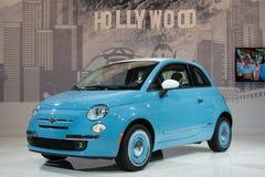 Fiat 500 1957 automobili dell'edizione su esposizione all'esposizione automatica della LA. Fotografie Stock Libere da Diritti