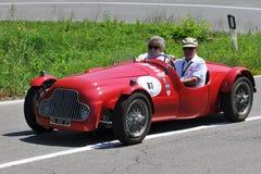 Fiat Barchetta 1949 - Vernasca Zilveren Vlag 2011 Stock Fotografie