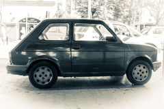 Fiat 126 black and white photography Stock Images