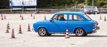 Auto slalom Fiat 850 Stock Photo