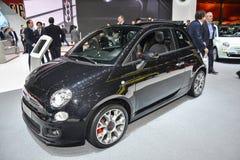 Fiat 500C al salone dell'automobile di Ginevra Immagini Stock Libere da Diritti