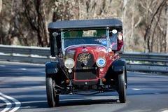 1925 Fiat 501 C tourer. Adelaide, Australia - September 25, 2016: Vintage 1925 Fiat 501 C tourer driving on country roads near the town of Birdwood, South Royalty Free Stock Photo