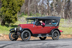 1925 Fiat 501 C Tourer driving on country road Stock Photography