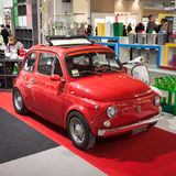 Fiat 500 car on display at HOMI, home international show in Milan, Italy Royalty Free Stock Photography