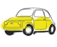Fiat Cinquecento car vector. Illustration of an old vintage italian car isolated  + vector EPS file Royalty Free Stock Photography