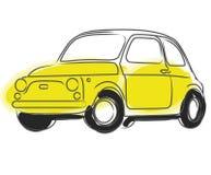 Fiat Cinquecento car vector Royalty Free Stock Photography