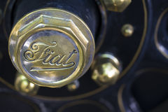 Fiat classic car detail Stock Images