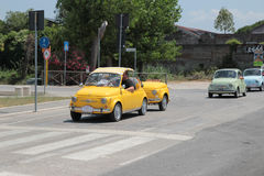 Fiat 500 Club Italia gathering stock photo