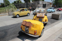 Fiat 500 Club Italia gathering royalty free stock image