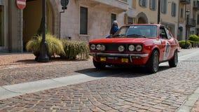 Fiat 128 Coupe på circuitoen di Zingonia 2014 Fotografering för Bildbyråer