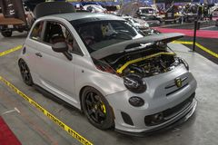 Fiat custom. Front side view of custom fiat car display during the autorama montreal september 16-17 2017 Royalty Free Stock Images