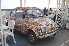 Fiat décoré 500 images libres de droits
