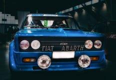 Fiat 131 de kleurenblu van de abartverzameling Stock Foto's