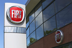 Fiat dealership sign Royalty Free Stock Photography