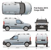 Fiat Doblo Cargo SWB 2015. Delivery van, Rear Swing Doors Royalty Free Stock Images