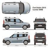 Fiat Doblo Combi LWB 2015 Photos libres de droits